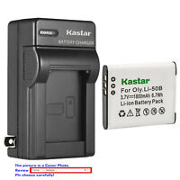 Kastar Battery Wall Charger for Olympus Li-50B LI-50C & Stylus 9000 Stylus 9010