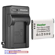 Kastar Battery Wall Charger for Olympus Li-50B LI-50C & Stylus 9000 Stylus 9010