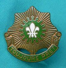 Vintage Us Army 2nd Cavalry Regiment Unit Crest Toujours Pret Pin Badg 00000634 e 4