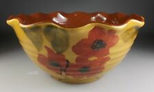 """AMBIANCE FLEUR ROUGE LARGE SERVING BOWL - RUFFLED  8 3/4"""" x 4 3/8"""" - PERFECT!"""