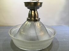 Holophane Light Lamp Shade Globe Sailor Hat 5540 Vintage Industrial Glass