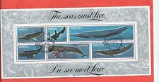 South West Africa stamps. 1980 Whales sheet used (CTO) (Z127)