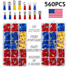 560PCS Assorted Crimp Spade Terminal Insulated Electrical Wire Connector Kit Set
