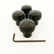 4 x Genuine 'Art Deco' Style Dash Knobs by SoCal Speed Shop- ANODIZED BLACK