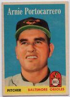 1958 Topps #465 Arnie Portocarrero EX-MINT Baltimore Orioles FREE SHIPPING