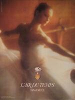 PUBLICITÉ DE PRESSE 1979 NINA RICCI L'AIR DU TEMPS - FLACON LALIQUE - DANSEUSE