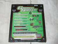 "original GHOST SQUAD SEGA INSTRUCTIONS 11-12"" arcade game sign marquee CF6A"