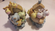 2 LARGE NOAH'S ARK BOOK ENDS - CHRISTENING GIFT - CG930