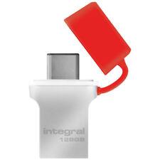 Integral 128GB Fusion USB Type C Flash Drive Memory Stick Pen Thumb  90MB/s New