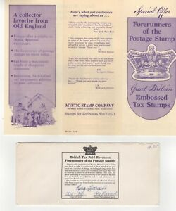 Britain Embossed Tax Stamp Information Booklet, One Pound, 1820-1830