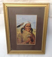 Native American  Framed Picture Vintage American