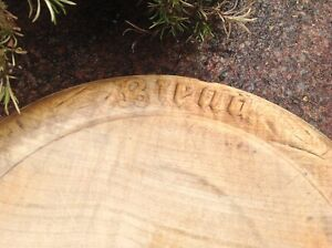 Antique Vintage, Wooden Sycamore carved  ' Bread ' Board, Chopping Board.