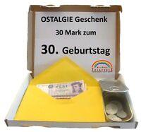 DDR Ostalgie 30. Geburtstag 1989. Mark Pfennig Münzen Dose u.v.m. von WallaBundu