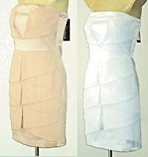 Polyester Strapless Shiny Dresses for Women
