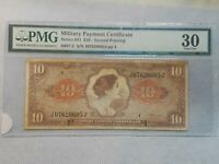 MILITARY PAYMENT CERTIFICATE $10 DOLLARS SERIES 641 VF+ Awesome note