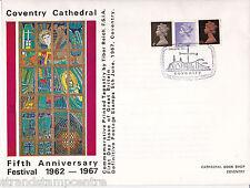 1967 4D, 1 / - & 1 / 9 D def's - Cattedrale di Coventry ufficiale (dimensioni più grandi)