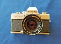 Vintage Minolta SRT SC-II 35mm SLR camera, with 4 Lenses, 2 Bags and stuff