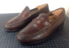 Allen Edmonds KENWOOD Brown Leather USA Men's US 10.5 D Penny Loafer Dress Shoes