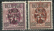 Belgium Belgio Scott # 240/241 Senza gomma serie completa