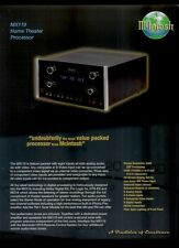 Super Rare Orig Factory McIntosh MX119 Home Theater Preamp Dealer Sheet Page