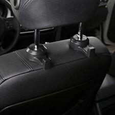 Hot 1 Pair Car Seat Parts Headrest Stand Black Holder Hooks Hanger Organizer Bag