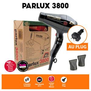 Parlux 3800 Ecofriendly Ceramic Ionic 2100W Hairdryer Dresser Black Hair Dryer