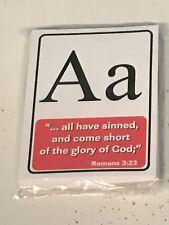 Bible Alphabet Cards - Memory Verse Cards Kindergarten - 26 Cards