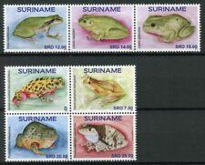 Suriname 2019 MNH Frogs 7v Set Amphibians Frog Stamps