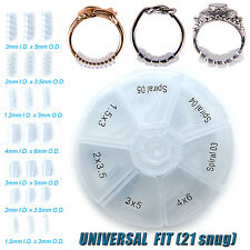 Ring Size Adjuster Snug Snuggies Clip Guard Size Reducer 21pcs /Storage Box