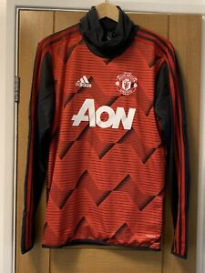 adidas Manchester United FC Pre Warm Up Red RRP £85