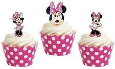 MINNIE MOUSE edible cup cake toppers decorations *STAND UPS*