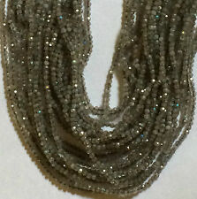 "13.25"" STRAND STUNNING 2MM ROUND FACETED LABRADORITE BEADS"