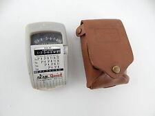 Vintage Light Exposure Meter Lightmeter Skan Quick in Leather Case MADE IN USA