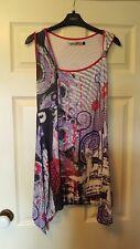 Smash size L sleeveless tunic purple patterned top