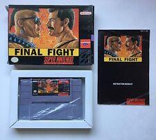 Super Nintendo SNES Final Fight Complete in Box CIB
