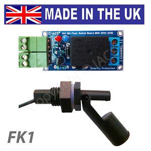 IACS Water Level Float Switch Board Sensor Kit 10A 1 Channel Liquid Relay FK1 UK
