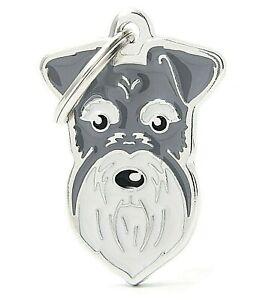 Schnauzer Dog ID Tag (27N) - Engraved FREE Personalised - Charm - Keyring