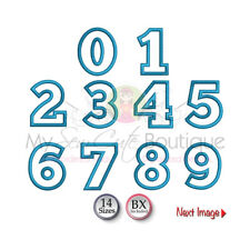 BIRTHDAY NUMBERS APPLIQUE MACHINE EMBROIDERY DESIGNS - 14 SIZES - IMPA1749