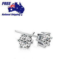 925 Sterling Sliver 6 Prong Lab Diamond Earring Studs