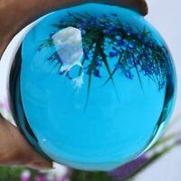 40MM Asian Rare Natural Quartz Blue Magic Crystal Healing Ball Reiki Sphere
