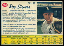 1962 POST CANADIAN BASEBALL #46 ROY SIEVERS NM-MINT CHICAGO WHITE SOX Card