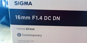 [New] Sigma 16 mm F1.4 Lens E Mount