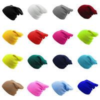 Unisex Knitted Slouch Beanie Hat Women Men Winter Warm Hat Ski Cap One Size New