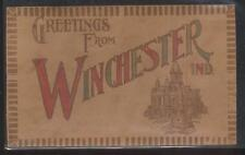 LEATHER Postcard WINCHESTER Indiana/IN  County Court House 1906