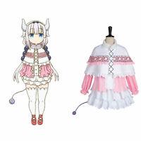 Miss Kobayashi-san Dragon Maid Kanna Kamui Cosplay Costume Uniform Outfit Dress