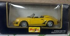 Maisto 1:24 Yellow Porsche 911 Speedster NIB NEW Vintage RARE Sports Car Classic