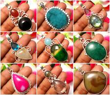 Pretty Pendants Titanium Druzy & Other Gemstones Silver Overlay Jewelry