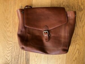 Fat Face Tan Leather Back pack - Good Condition