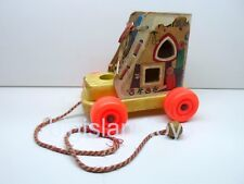 Vintage Old Woman Who Lived In A Shoe Playskool Pull Toy Lace Up Boot