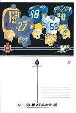 CFLOfficial Postcard - Winnipeg Blue Bombers Jersey History